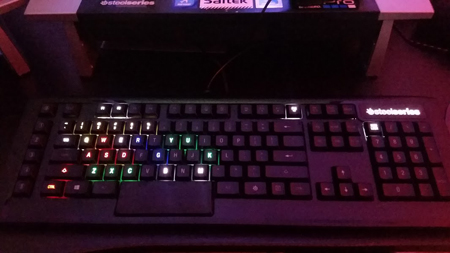 Photo of the SteelSeries ApexM800 Mechanical Keyboard Reviewed at TechtalkRadio
