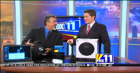 A Photo from the Television Segment on The Amazing Sound of the Harmon Kardon Onyx with Mark Stine