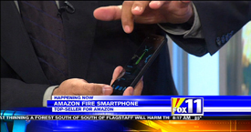 Amazon Fire Phone featured with TechtalkRadio's Andy Taylor on KMSB Fox 11