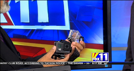TechtalkRadio's Andy Taylor on Fox 11 Daybreak sharing info on the GoPro Hero and Crossley USB Turntable