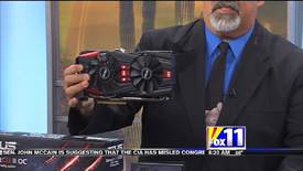 Screen Capture of segment featuring The Asus GTX780 on KMSB Fox 11 with Andy Taylor of TechtalkRadio from 12/16/2013