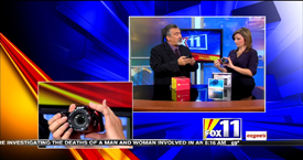 TechtalkRadio's Andy Taylor on Fox 11 Daybreak taking a look at the Nikon CoolPix Digital Camera and Sylvania 7 Inch Digital Photo Frame