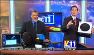 Photo from the Set of KMSB Fox 11 Tucson Daybreak during the visit from Andy Taylor of TechtalkRadio
