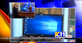 TechtalkRadio's Andy Taylor on Fox 11 Daybreak featuring the Unveil of Microsoft Windows 10