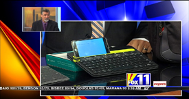 TechtalkRadio's Andy Taylor on Fox 11 Daybreak takes a look at the Logitech K480 Bluetooth Keyboard, Microsoft Universal Foldable Keyboard and SwissGear Pegasus Laptop Backpack