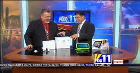 TechtalkRadio's Andy Taylor on Fox 11 Daybreak featuring the Leapfrog Epic Tablet and Netgear Arlo Wireless Security Camera