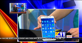 TechtalkRadio's Andy Taylor on Fox 11 Daybreak featuring the Samsung Galaxy 6 Edge Plus and Galaxy Note 5