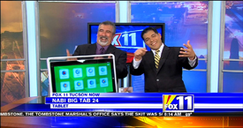 TechtalkRadio's Andy Taylor on Fox 11 Daybreak featuring the Nabi Tab Big 24 Tablet and TheTileApp