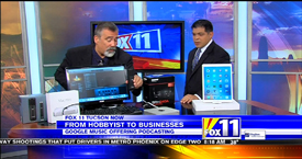 TechtalkRadio's Andy Taylor on Fox 11 Daybreak features the Apple iPad Pro and the Podcaster Suite from Guitar Center
