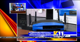TechtalkRadio's Andy Taylor on Fox 11 Daybreak featuring the LinkSys WRT1900ACS and TivoBolt 500GB DVR