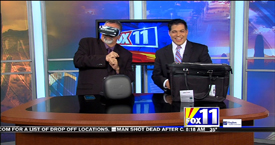 TechtalkRadio's Andy Taylor on Fox 11 Daybreak takes a look at the Samsung Galaxy Gear VR and SwissGear Tote