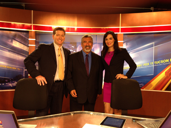 Photo of the KMSB Crew from Daybreak with Mark Stine and Lydia Camarillo