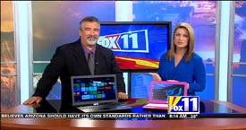 TechtalkRadio's Andy Taylor on Fox 11 Daybreak taking a look at budget laptops the HP Stream 11 and the Asus X55MA