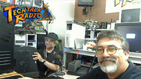 Photo of Slick and Andy Taylor of TechtalkRadio in the TechtalkRadio Studios